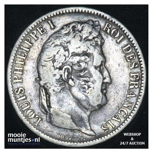 5 francs - France 1831 W (Lille) (KM 735.4) (kant B)