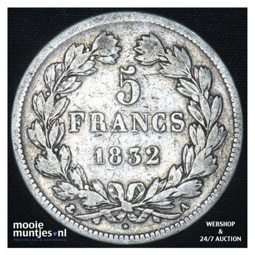 5 francs - France 1832 A (Paris) (KM 749.1) (kant A)