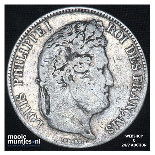 5 francs - France 1832 A (Paris) (KM 749.1) (kant B)