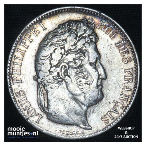 5 francs - France 1832 D (Lyon) (KM 749.1) (kant B)