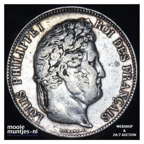 5 francs - France 1833 D (Lyon) (KM 749.4) (kant B)