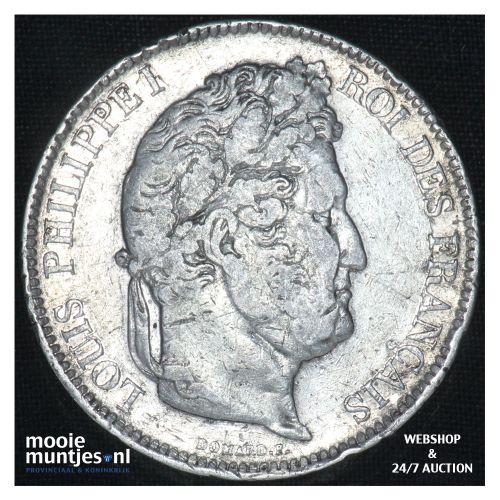5 francs - France 1833 I (Limoges) (KM 749.4) (kant B)