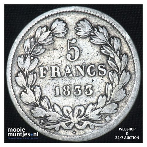 5 francs - France 1833 MA (Marseille) (KM 749.4) (kant A)