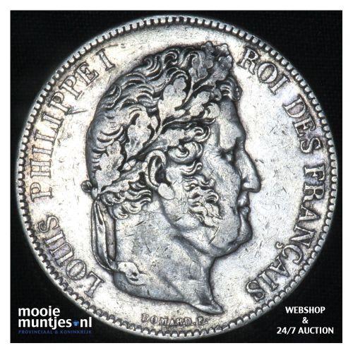 5 francs - France 1834 A (Paris) (KM 749.1) (kant B)