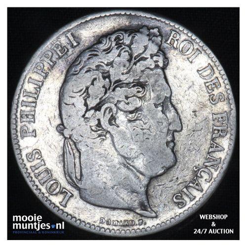5 francs - France 1834 W (Lille) (KM 749.1) (kant B)