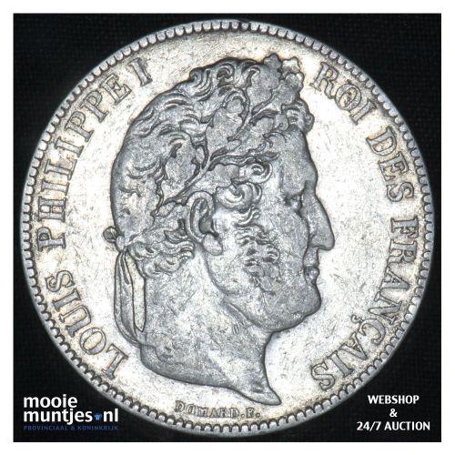5 francs - France 1839 BB (Strasbourg) (KM 749.2) (kant B)