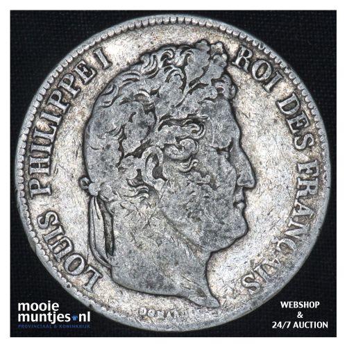 5 francs - France 1839 B (Rouen) (KM 749.2) (kant B)