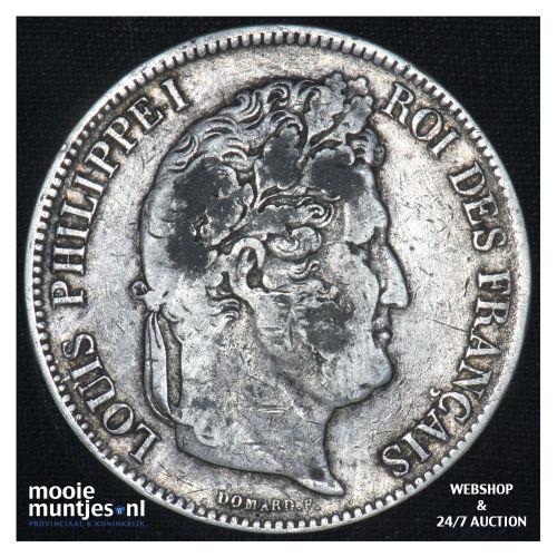 5 francs - France 1837 W (Lille) (KM 749.2) (kant B)