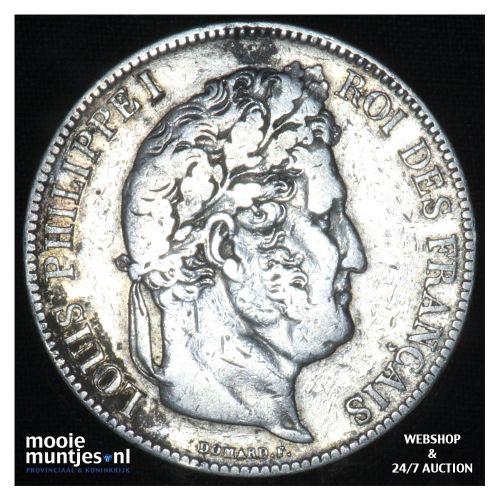 5 francs - France 1835 K (Bordeaux) (KM 749.2) (kant B)