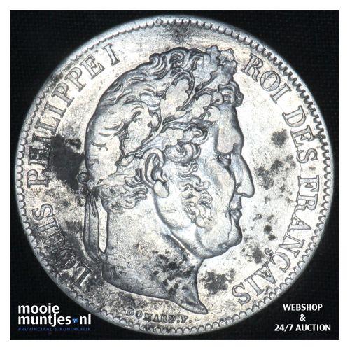 5 francs - France 1839 A (Paris) (KM 749.1) (kant B)