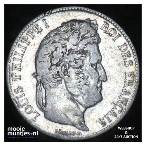 5 francs - France 1837 A (Paris) (KM 749.1) (kant B)