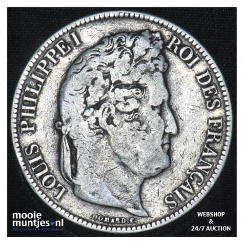 5 francs - France 1840 K (Bordeaux) (KM 749.3) (kant B)