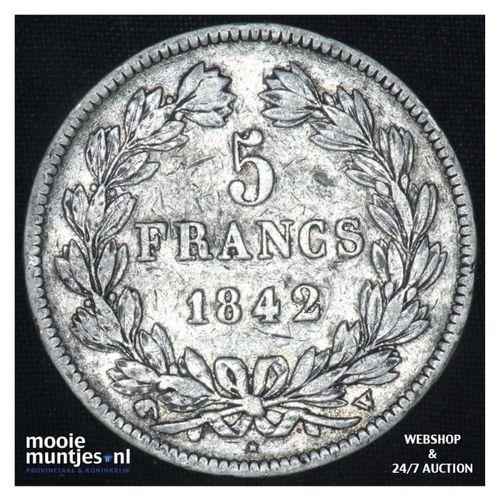 5 francs - France 1842 W (Lille) (KM 749.13) (kant A)