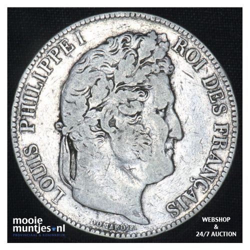 5 francs - France 1842 W (Lille) (KM 749.13) (kant B)