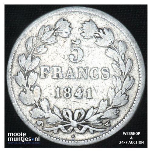 5 francs - France 1841 W (Lille) (KM 749.13) (kant A)
