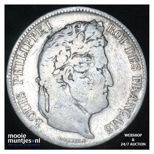 5 francs - France 1841 W (Lille) (KM 749.13) (kant B)