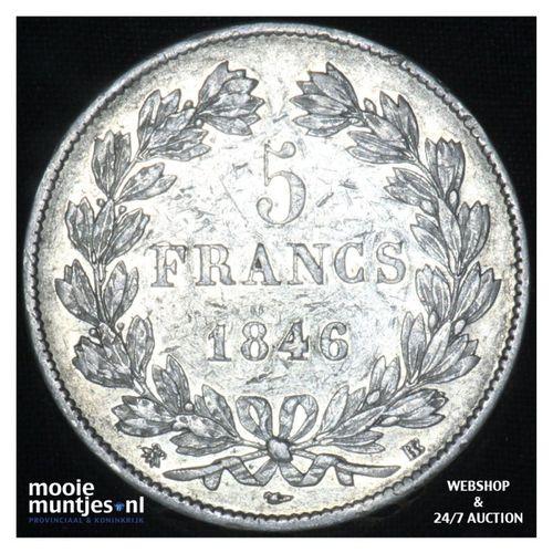 5 francs - France 1846 BB (Strasbourg) (KM 749.3) (kant A)