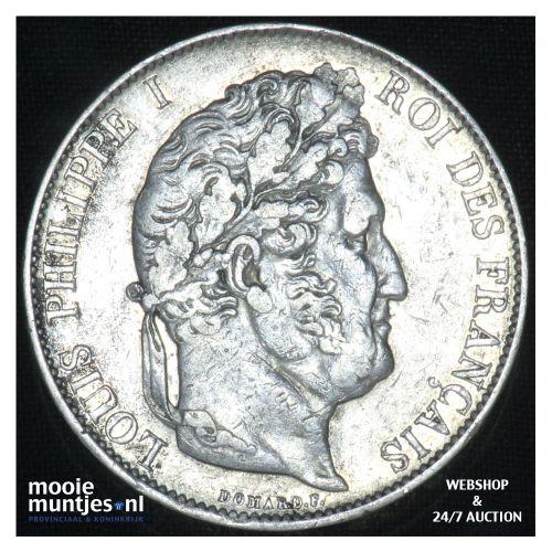 5 francs - France 1846 BB (Strasbourg) (KM 749.3) (kant B)