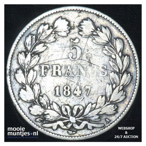 5 francs - France 1847 A  (Paris) (KM 749.1) (kant A)