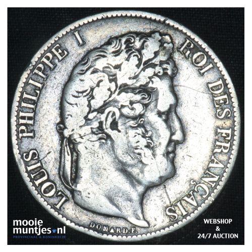 5 francs - France 1847 A  (Paris) (KM 749.1) (kant B)