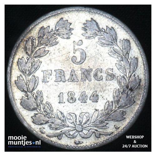 5 francs - France 1844 A (Paris) (KM 749.1) (kant A)