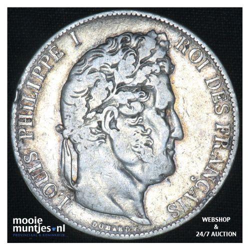5 francs - France 1844 A (Paris) (KM 749.1) (kant B)