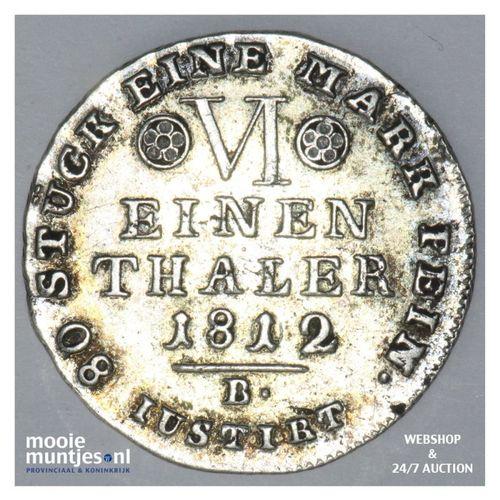 1/6 thaler (reichs) - German States/Westphalia 1812 B (KM 88) (kant A)