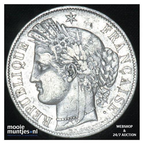 5 francs - France 1850 K (Bordeaux) (KM 761.1) (kant B)