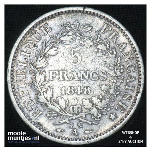 5 francs - France 1848 A (Paris) (KM 756.1) (kant A)