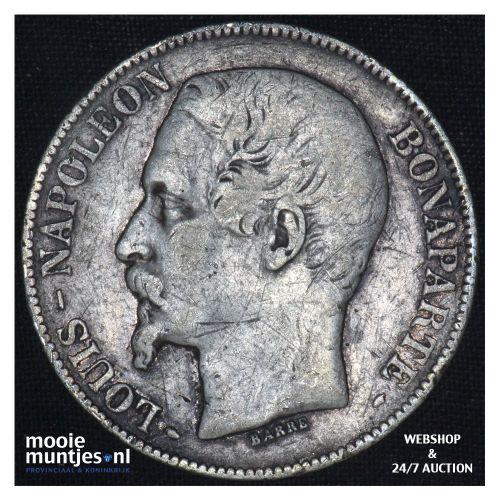 5 francs - France 1852 A (Paris) (KM 773.1) (kant B)