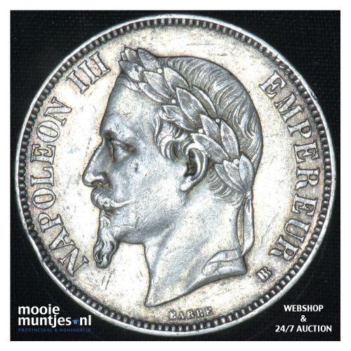 5 francs - France 1867 BB (Strasbourg) (KM 799.2) (kant B)