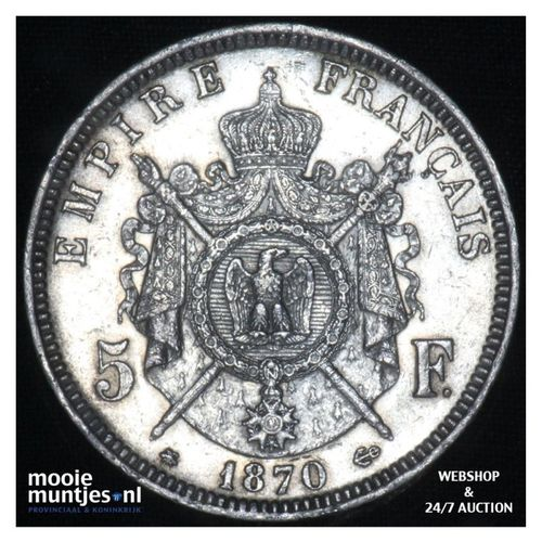 5 francs - France 1870 A (Paris) (KM 799.1) (kant A)