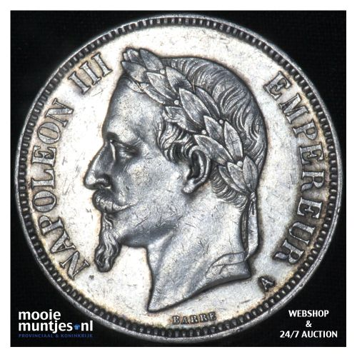 5 francs - France 1870 A (Paris) (KM 799.1) (kant B)