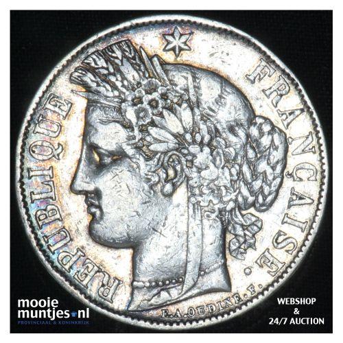 5 francs - France 1870 A (Paris) (KM 819) (kant B)