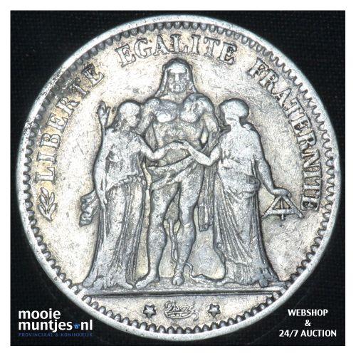 5 francs - France 1875 K (Bordeaux) (KM 820.1) (kant B)