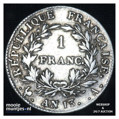 franc - France AN 13 A (Paris) (KM 656.1) (kant A)