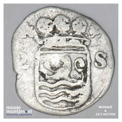 Zeeland - Dubbele wapenstuiver - 1696 (kant B)