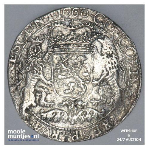 Zeeland - Zilveren rijder of dukaton - 1660 (kant A)