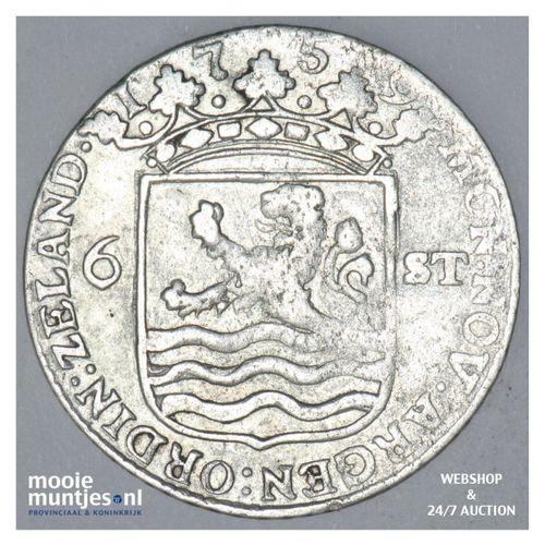 Zeeland - Scheepjesschelling - 1759 (kant A)