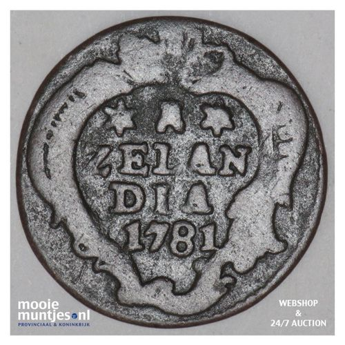 Zeeland - Duit - 1781 (kant A)