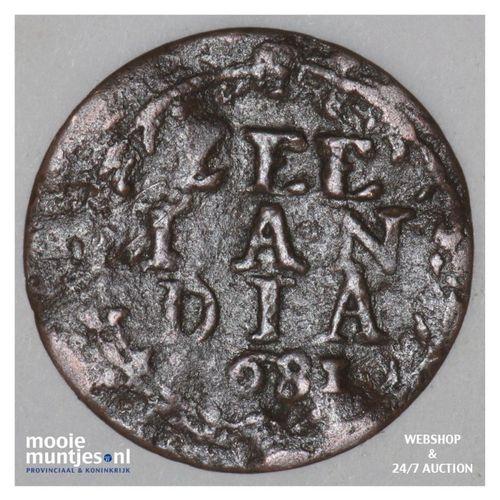 Zeeland - Duit - 1681 (kant A)
