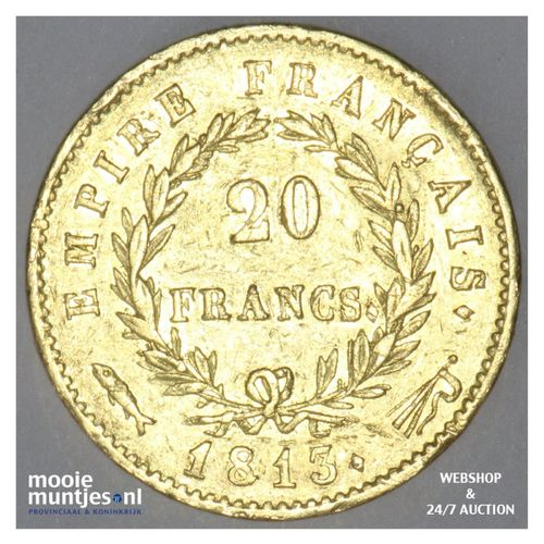 20 francs - Keizer Napoleon I - 1813 (kant A)