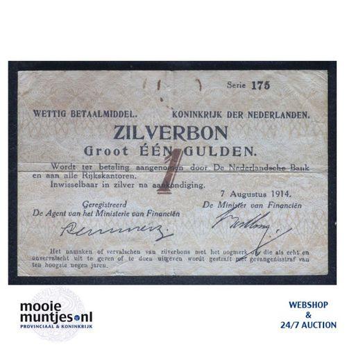 1 gulden - 1914 (Mev. 01-1c / AV 1) (kant A)