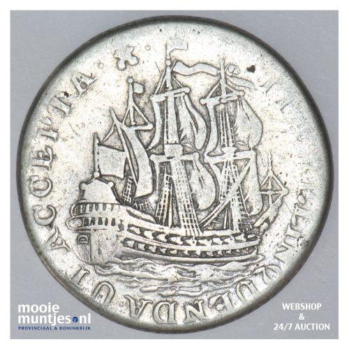 Zeeland - Scheepjesschelling - 1758 Piedfort (kant B)