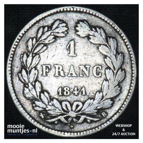 franc - France 1841 B (Rouen) (KM 748.2) (kant A)