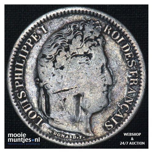 2 francs - France 1832 W (Lille) (KM 743.13) (kant B)