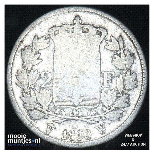 2 francs - France 1816 W (Lille) (KM 725.13) (kant A)