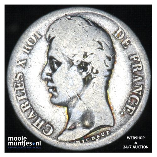 2 francs - France 1816 W (Lille) (KM 725.13) (kant B)