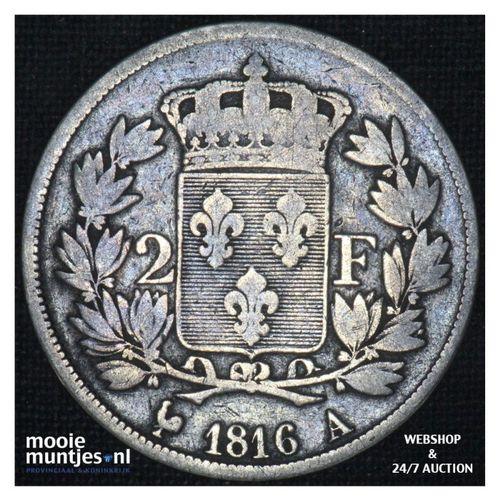2 francs - France 1816 A (Paris) (KM 710.1) (kant A)