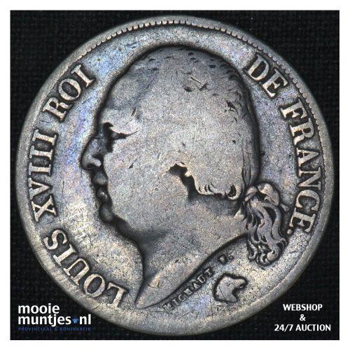 2 francs - France 1816 A (Paris) (KM 710.1) (kant B)